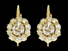 Antique earrings: The Middle Victorian Period 1860 - 1885