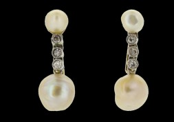 Antique earrings - The Edwardian period including Belle Époque and Art Nouveau - A History of Earrings: Part 6.