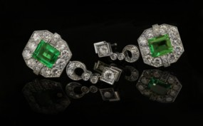 Art Deco earrings of the 1920's to 1930's