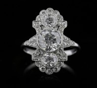 Ornate 1920's Diamond Cluster Rings