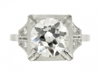 Art Deco diamond ring, French, circa 1935.
