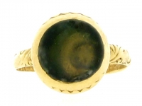 Antique memorial ring, circa 1683.