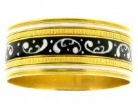Georgian Enamel Gold Memorial Ring, Circa 1807.