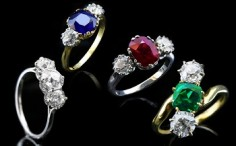 Antique and Vintage Three Stone Rings