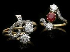 Love motifs in Art Nouveau jewellery