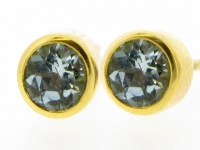 Aquamarine stud earrings.