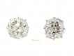 alt='Pair of antique old cut diamond earrings, circa 1900.'
