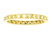 Diamond set eternity ring, circa 1940.