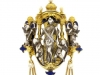 side-view-Froment-Meurice enamel chatelaine pendant set with pearls and lapis