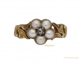 front-memorial-pearl-diamond-ring-berganza-hatton-garden