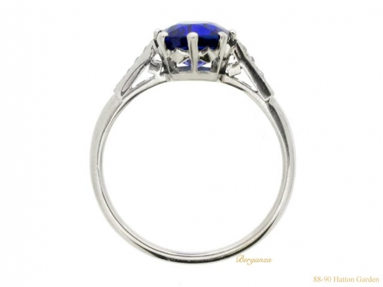 back-view-  Kashmir-Royal-blue-sapphire-and-diamond-ring,-circa-1910.-berganza-hatton-garden