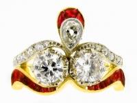 Diamond and ruby ring, circa 1905.