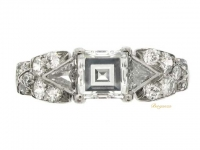 front view Ornate diamond ring, circa 1950.