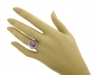 hand-view-J. Milhening Inc. star sapphire and diamond ring, Chicago, American, circa 1935.