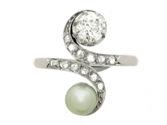 front-view-antique-pearl-diamond-ring-berganza-hatton-garden