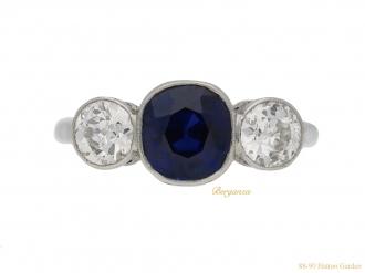 front-view-antique-sapphire-diamond-ring-berganza-hatton-garden