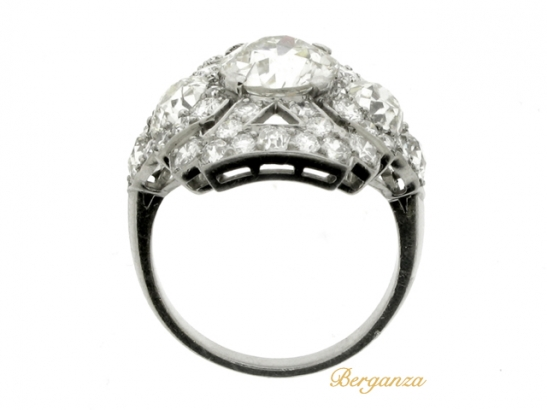 back-view-Ornate diamond cluster ring, circa 1920.