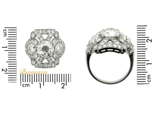 size-view-Ornate diamond cluster ring, circa 1920.