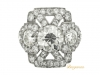Ornate diamond cluster ring, circa 1920.