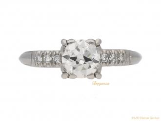 front-view-vintage-diamond-engagementl-ring-berganza-hatton-garden