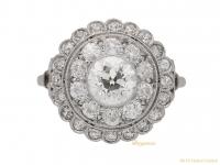 front-antique-diamond-cluster-ring-berganza-hatton-garden