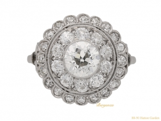 front-antique-diamond-cluster-ring-berganza-hatton-garden