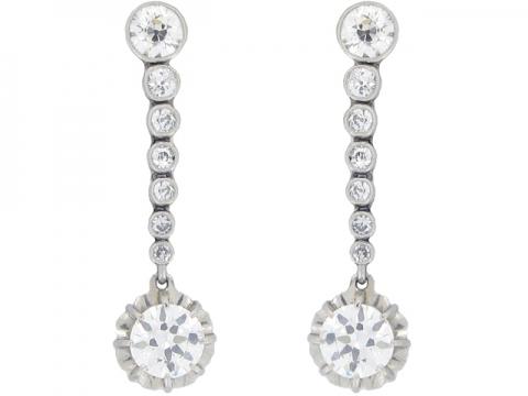 front-view-antique-diamond-drop-earrings-berganza-hatton-garden