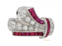 front view Ruby and diamond ring, circa 1930.