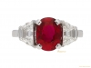 front-view-Pigeon-Blood-Burmese-ruby-and-diamond-ring,-circa-1935.-berganza-hatton-garden