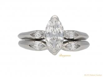 front-view-Vintage-diamond-ring-matching-diamond-band-berganza-hatton-garden