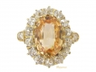 alt='Antique yellow sapphire and diamond cluster ring, circa 1900. '