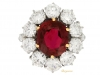 front-view-Vintage ruby and diamond coronet cluster ring