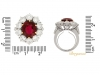 size-veiw-Vintage ruby and diamond coronet cluster ring