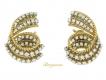 alt='Tiffany & Co. vintage diamond clip earrings, circa 1960s.'