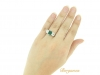 hand-view-Colombian emerald and diamond three stone ring