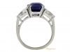back-view-Natural Royal Blue Burmese sapphire and diamond ring