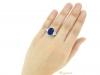 hand-view-Natural Royal Blue Burmese sapphire and diamond ring