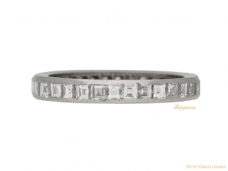 Square diamond set eternity ring, circa 1935.
