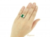 hand-view-Gubelin Colombian emerald and diamond ring, circa 1943.