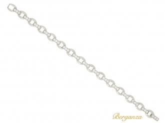 front-view-Oscar Heyman Brothers vintage diamond bracelet