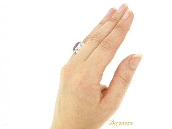 hand-view-Bulgari Burmese ruby and diamond 'Trombino' ring