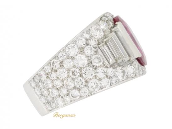 side-view-Bulgari Burmese ruby and diamond 'Trombino' ring