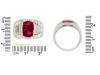 size-view-Bulgari Burmese ruby and diamond 'Trombino' ring