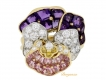 alt='front-view-Oscar Heyman Brothers pansy ring'