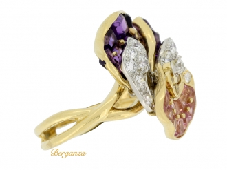 front-view-Oscar Heyman Brothers pansy ring
