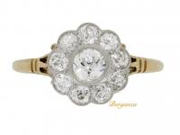 Antique diamond cluster ring, circa 1910.