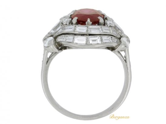 back-view-Burmese ruby and diamond cluster ring