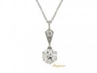 Old cut diamond pendant, circa 1920.