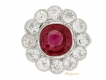 alt='front-view-Burmese-ruby-and-diamond-coronet-cluster-ring,-circa-1910.-berganza-hatton-garden'