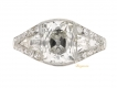 alt='front view Art Deco diamond engagement ring'